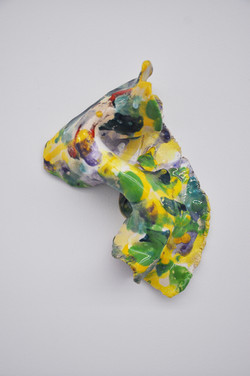 Seashell, 2015, glazed ceramics, ca 23 x 17 x 9 cm