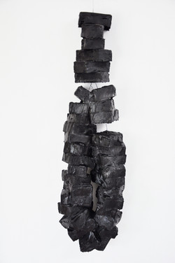 Black Blocks of Sensations, iron, paint, plaster, plastic, Ca 80 x 21 x 12 cm, 2009