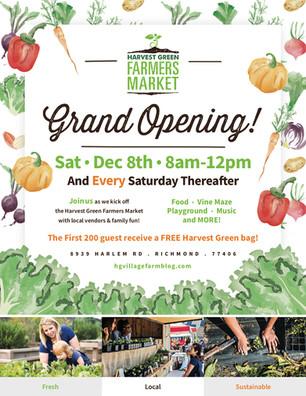 Farmers Market Grand Opening — December 8