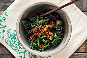 Wasabina Salad with Sunflower Brittle