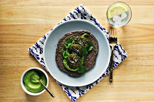 Spring Falafel with Cilantro Tahini Cream