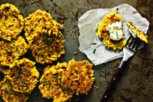 Curried Coconut Squash Fritters
