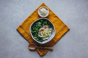 Savory Breakfast Bowl with Chard & Sunflower Seed Dukkah