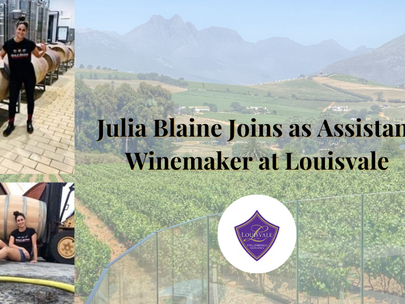 Julia Blaine Joins as Assistant Winemaker at Louisvale