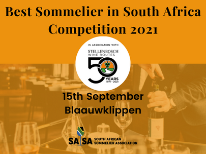 Best Sommelier in South Africa 2021 Competition, in partnership with the Stellenbosch Wine Route