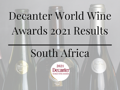 Decanter World Wine Awards 2021 Results   South Africa