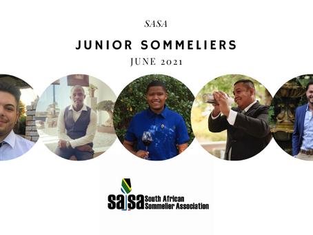 SASA Announces Five New Junior Sommeliers