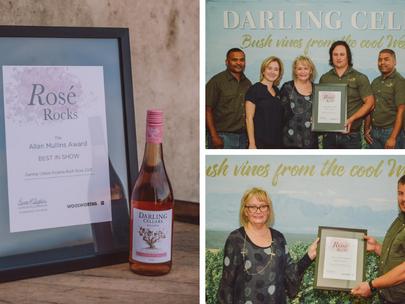 "Darling Cellars ""Pyjama Bush Rosé Wins the Allan Mullins Award for Best in Show at Rosé Rocks 2021"
