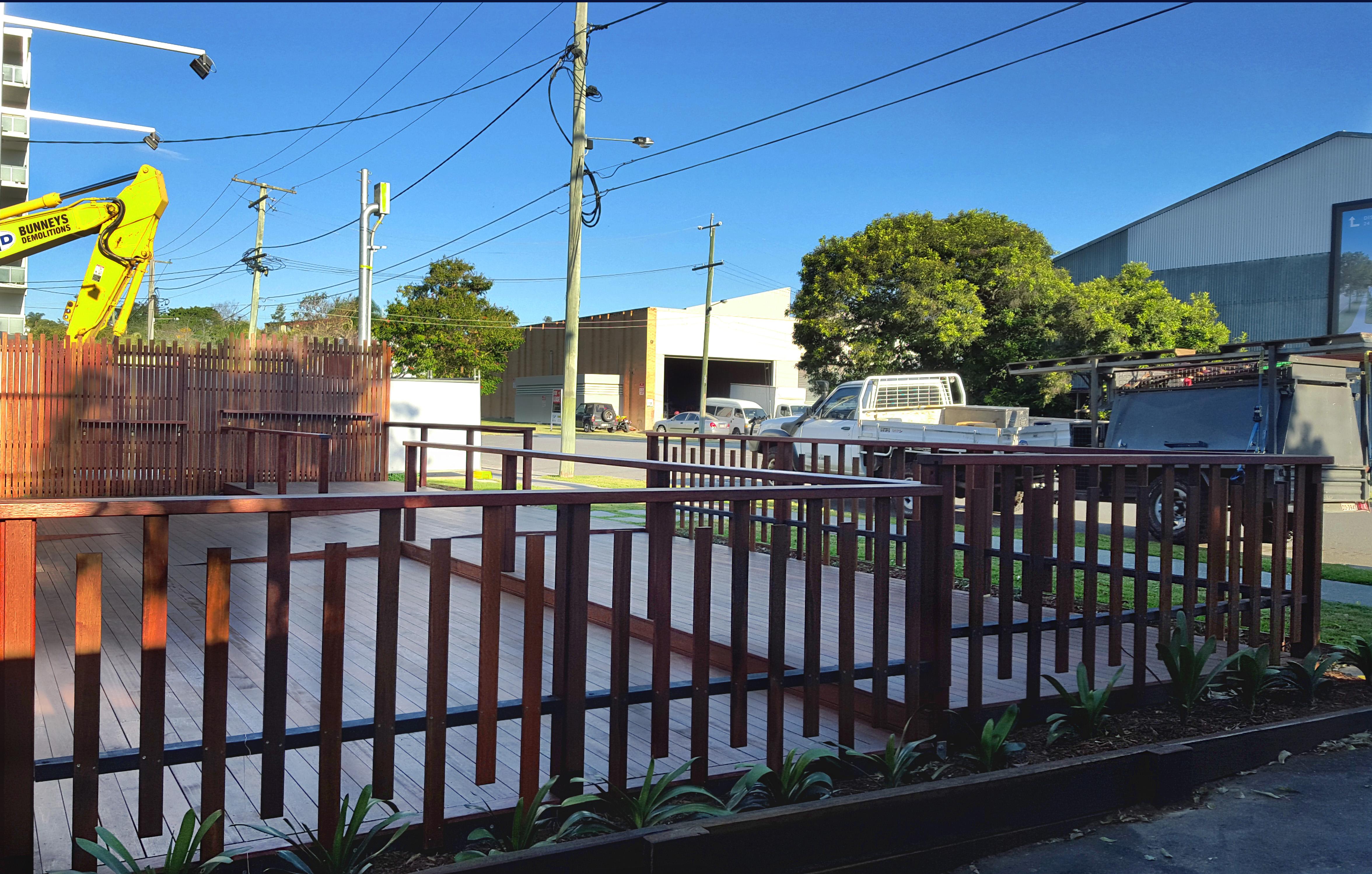 Designer Deck handrail west end