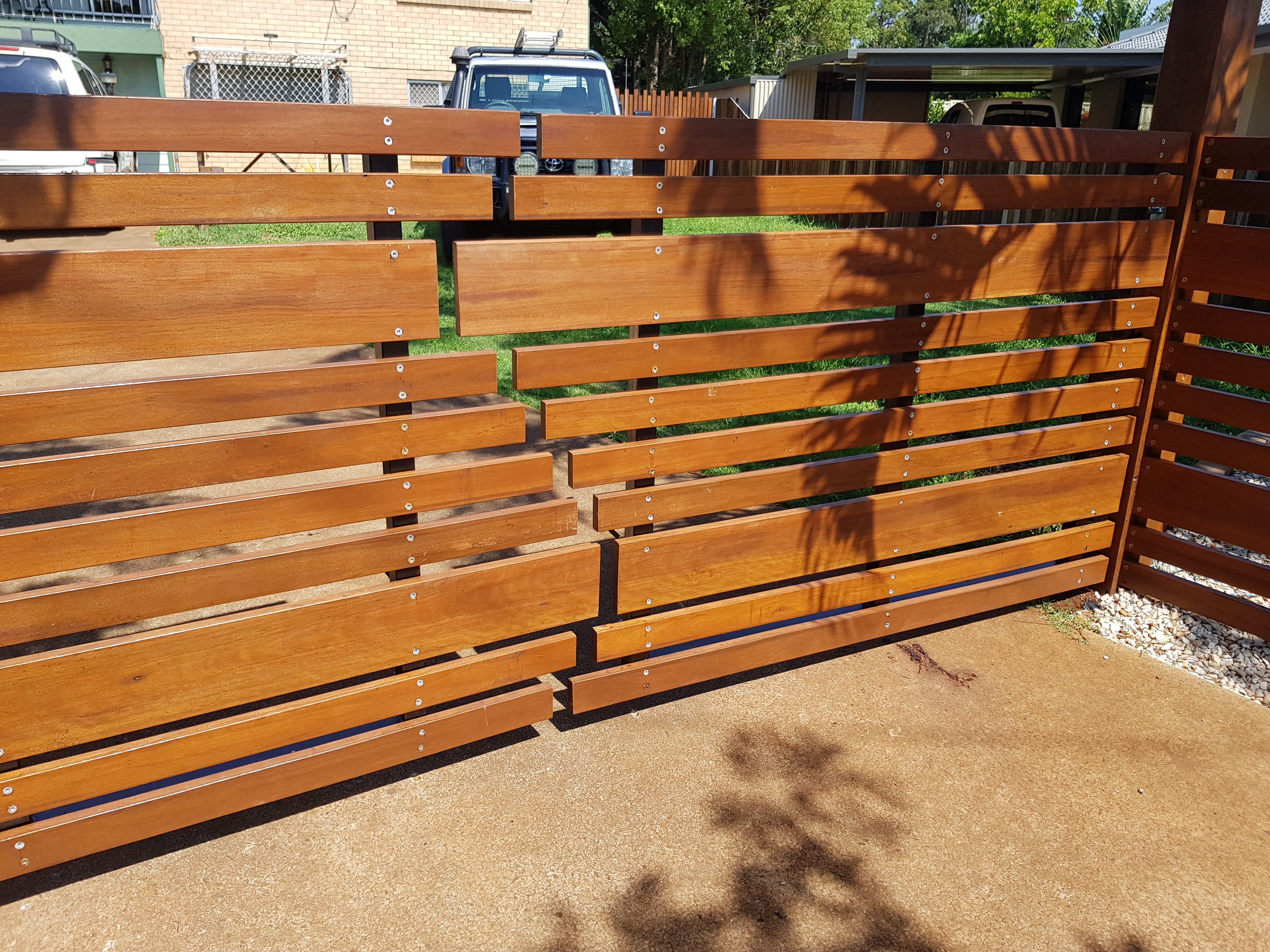 Offset Timber fence