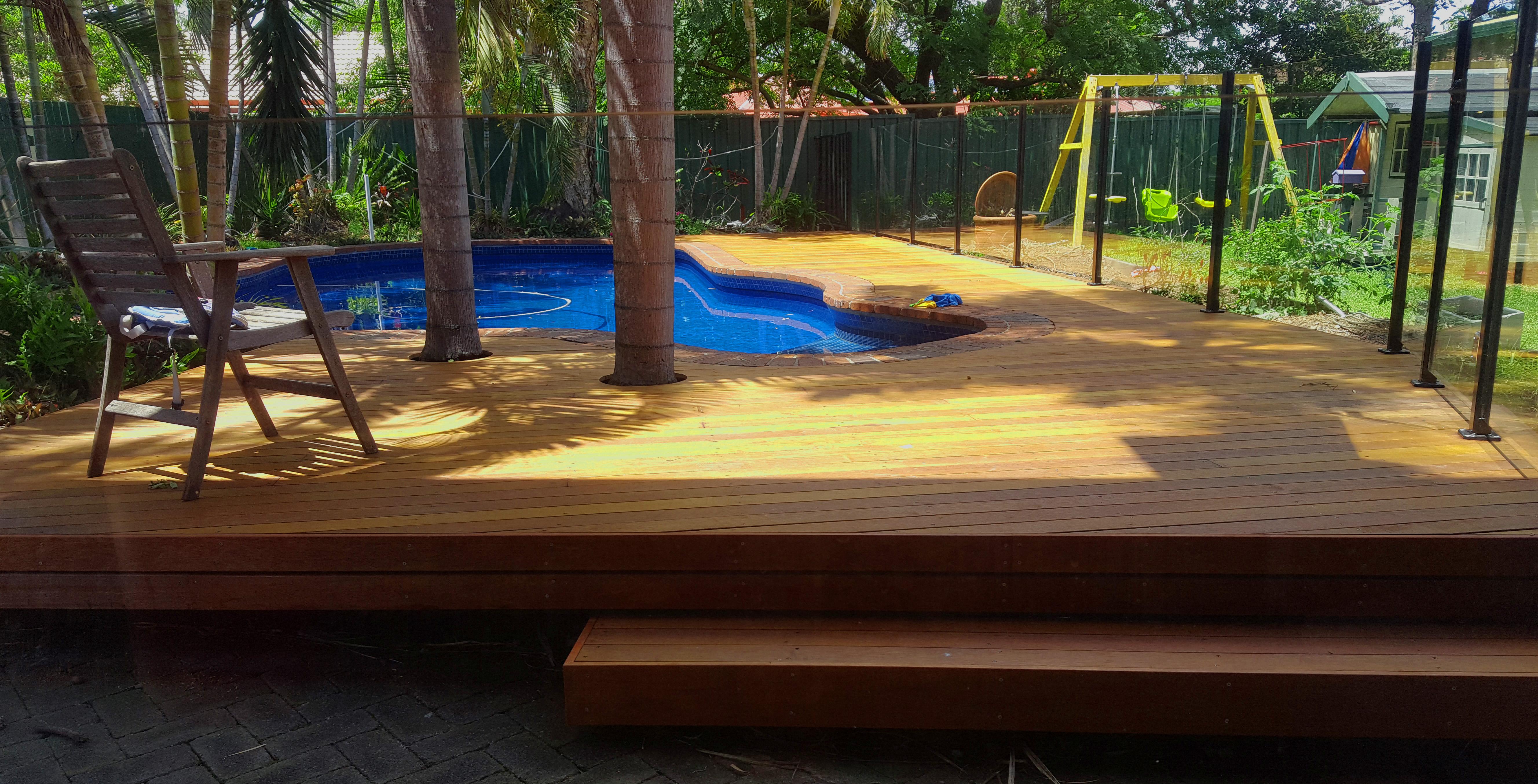 Pool side deck redlands