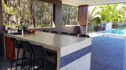 Polished concrete table redlands