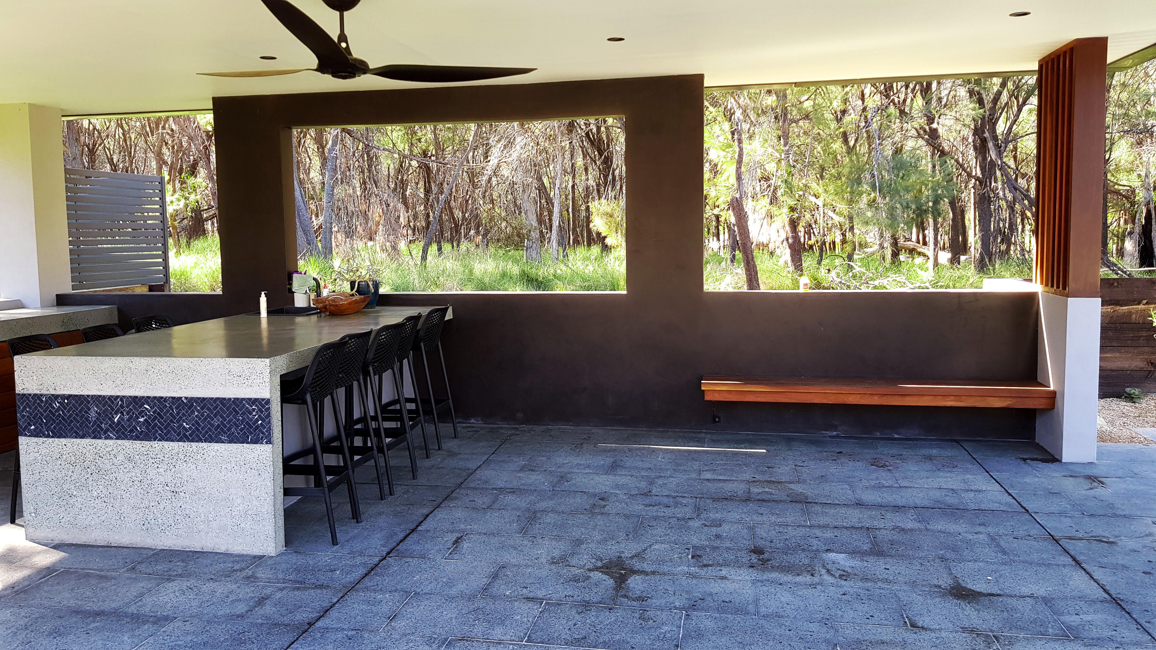 Open patio area Redlands