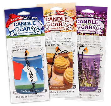 Candle for the car, car hangers, air freshener, Pet Odor Exterminator