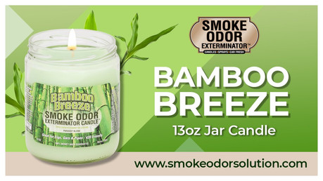 Meet the Bamboo Breeze 13oz Jar Candle from Smoke Odor Exterminator!