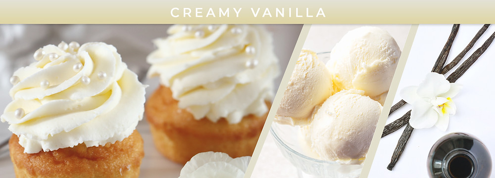 Creamy vanilla icing, ice cream, and vanilla flower