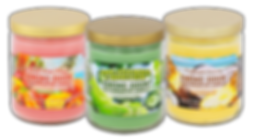 Maui Wowie Mango, Cool Cucumber & Honeydew, Pineapple Coconut jar candles
