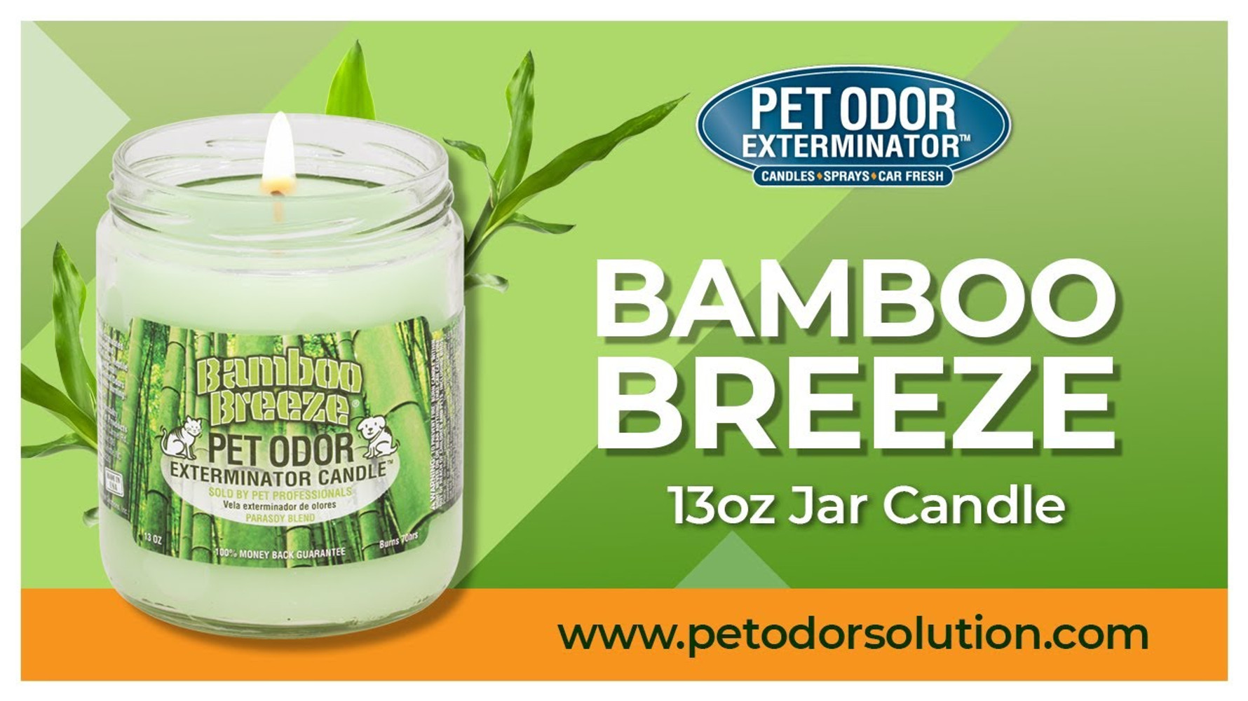 Meet the Bamboo Breeze 13oz Jar Candle from Pet Odor Exterminator!