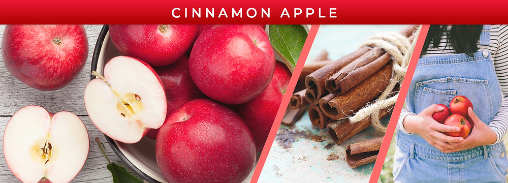 Red apples, cinnamon sticks, apple-picking.