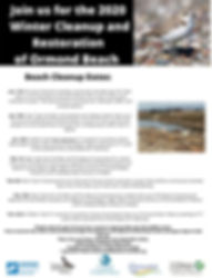Beach Cleanups 2020 Winter Cleanup Corre