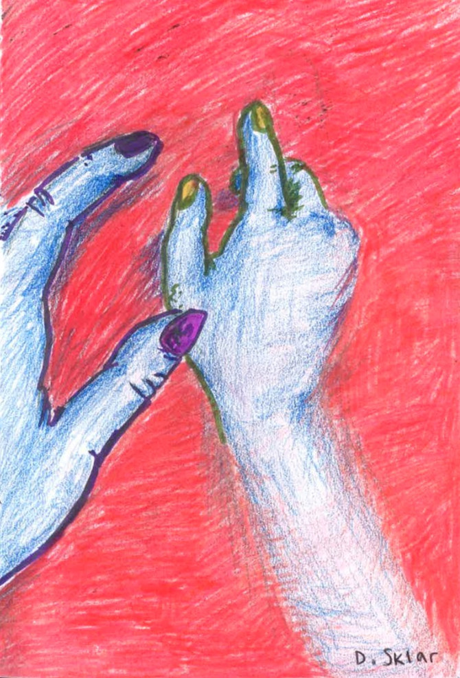 erotic hand holding