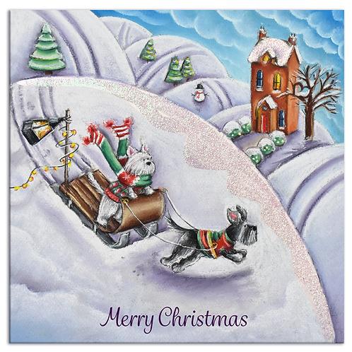 Driving Home Fro Christmas - Christmas Card