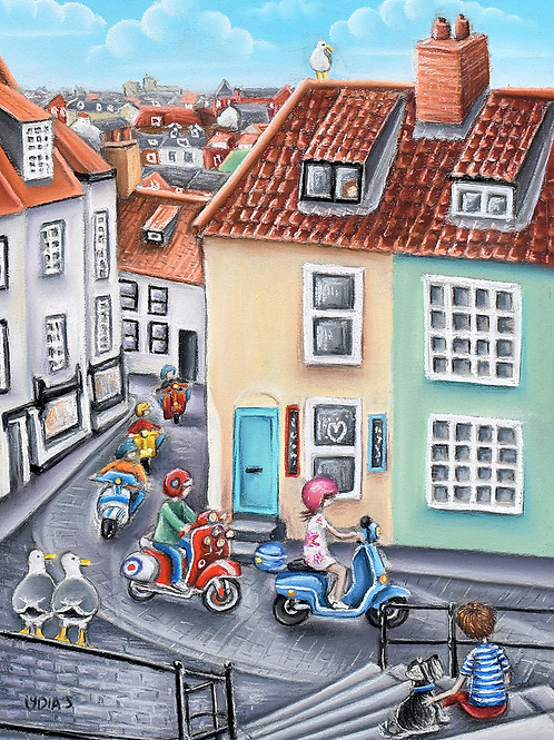 'Invasion Of The Scooters ' is a Giclee Limited Edition Print