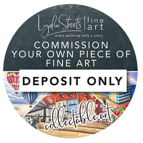 Commission A Original Lydia Streets Painting- Deposit Only