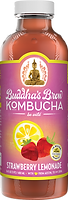 Buddhas Brew Kombucha Strawberry Lemonade 16oz Pint Bottle