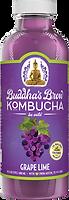 Buddhas Brew Kombucha Grape Lime 16oz Pint Bottle
