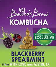 Blackberry Spearmint Buddhas Brew Kombucha