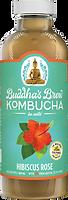 Buddhas Brew Kombucha Seasonal Hibiscus Rose 16oz Pint Bottle