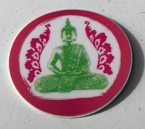 Pink circle sticker