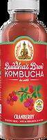Buddhas Brew Kombucha Cranberry 16oz Pint Bottle