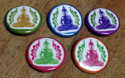 Buddha Pins - Pink
