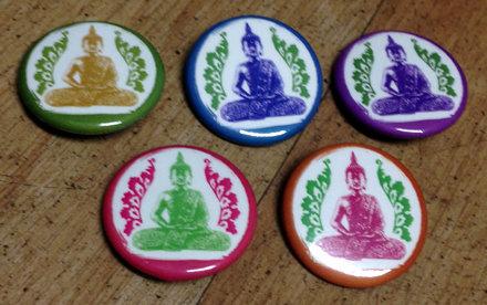 Buddha Pins - Blue