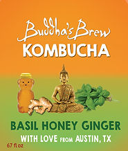 Basil Honey Ginger Buddhas Brew Kombucha
