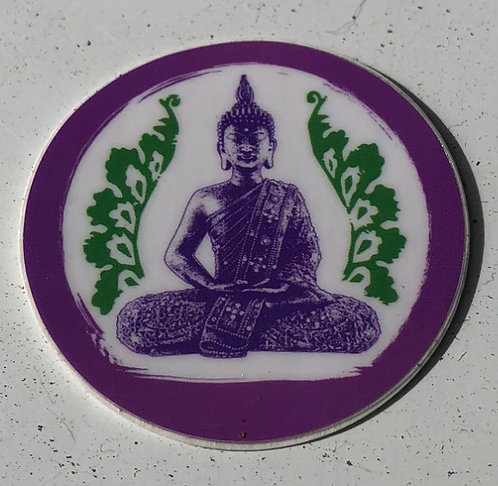 Purple circle sticker