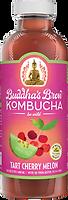 Buddhas Brew Kombucha Tart Cherry Melon 16oz Pint Bottle
