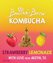 Strawberry Lemonade Buddhas Brew Kombucha