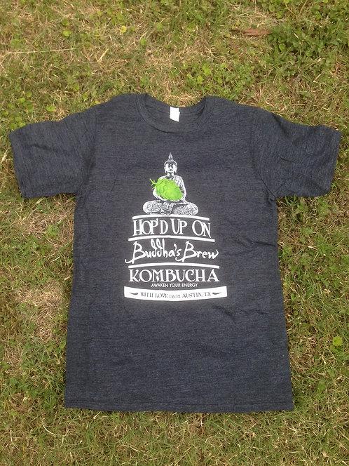 Hop'd Anvil Organic/Recycled Heather Black Tee