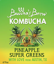 Pineapple Super Greens Buddhas Brew Kombucha