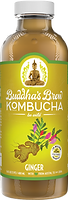Buddhas Brew Kombucha Ginger 16oz Pint Bottle