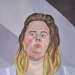 Double Chin Self Portrait Acryl auf Papier  Malen  Juni 2017