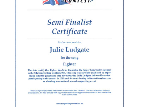 UK Songwriting Competition Semi-Finalist!!