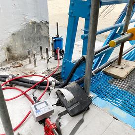 旭川ダム水門改修工事に於けるあと施工アンカー引抜き試験