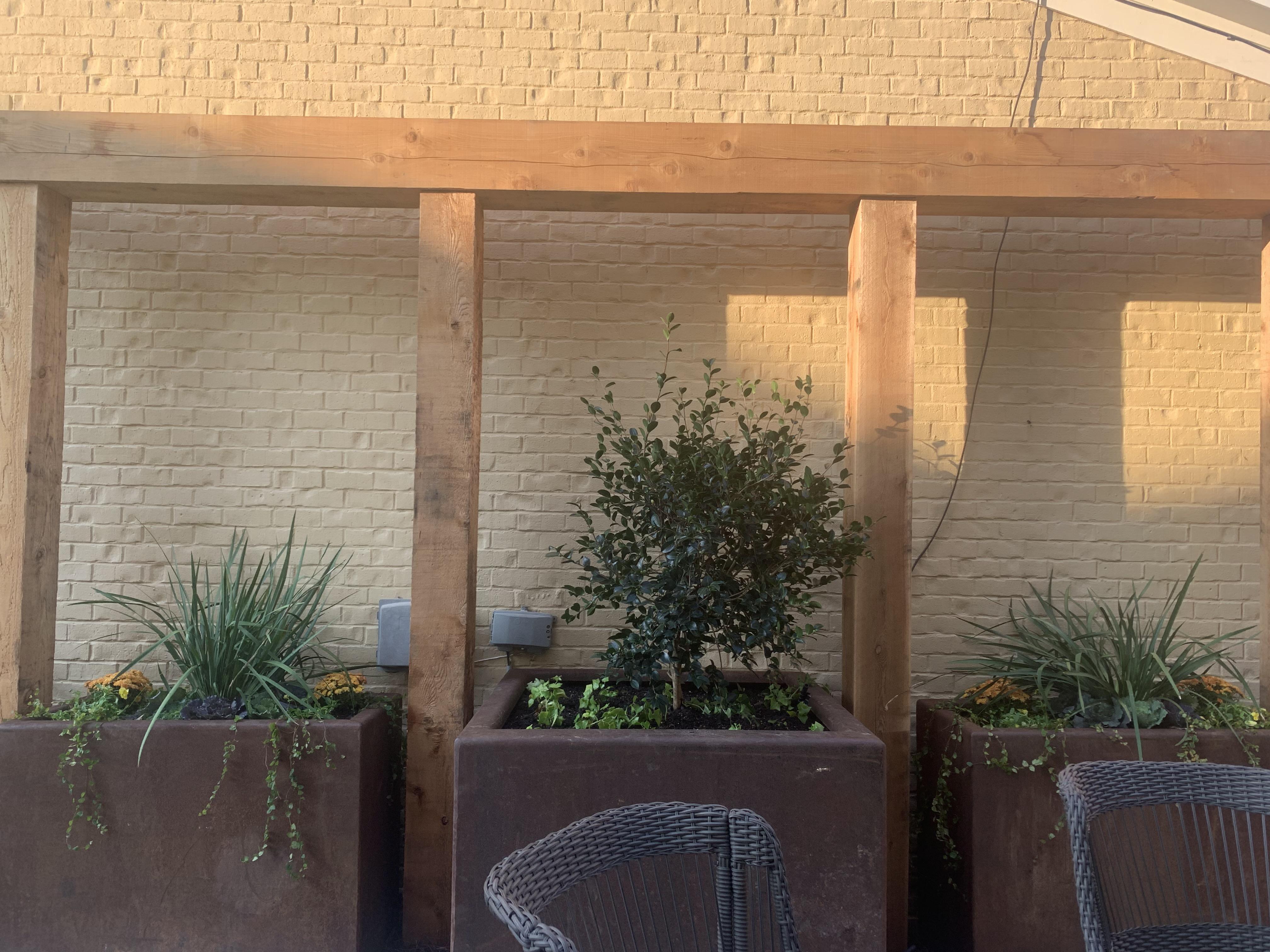 Metal Flowerbed planters