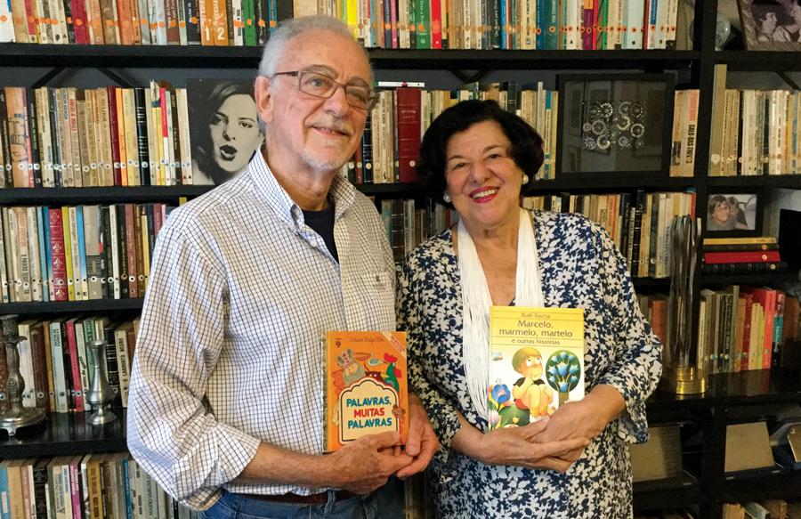 Adalberto e a autora Ruth Rocha