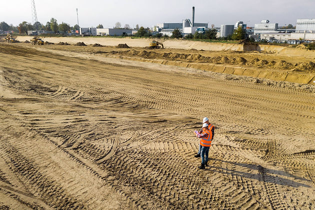 top-view-of-two-road-construction-worker