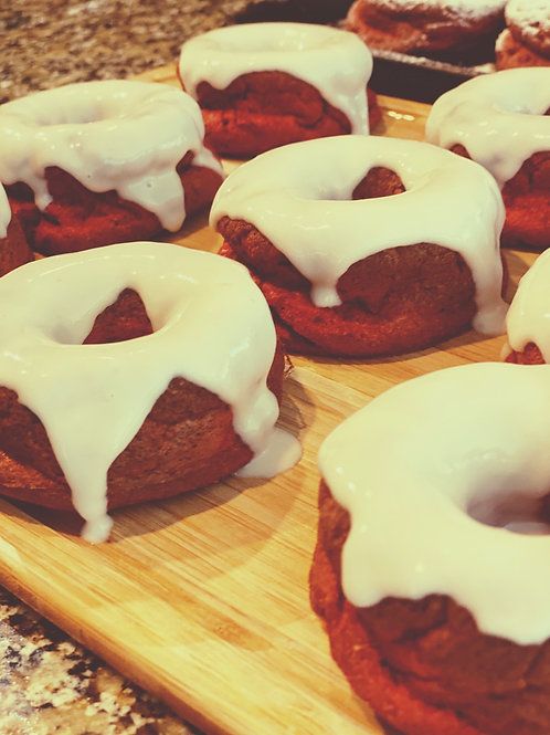 Red Velvet Cream Cheese Protein Donut - GF/KF- Pick-up Only